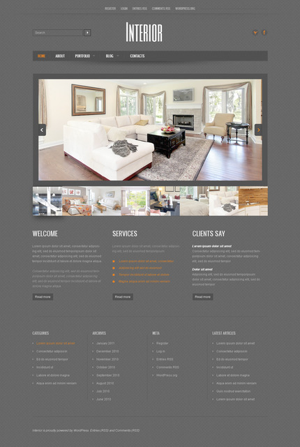 ADOBE Photoshop Template 57318 Home Page Screenshot