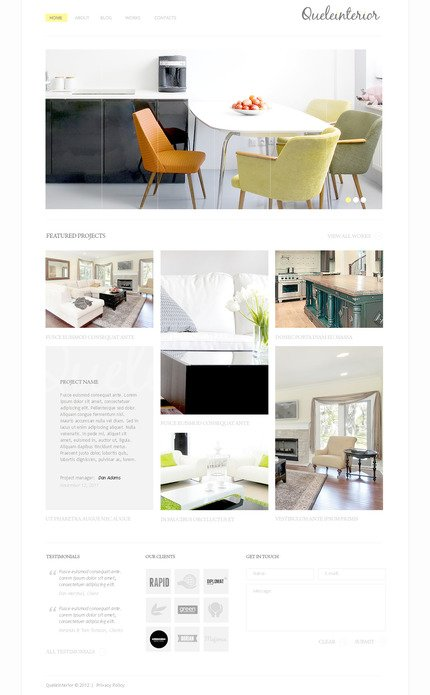 PSD макет сайта №57320