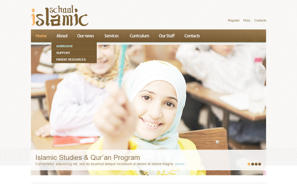 PSD Template over Islamitisch Sociaal Centrum  New Screenshots BIG