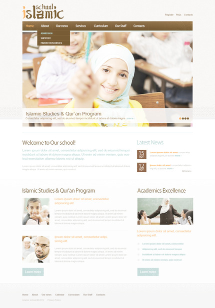 ADOBE Photoshop Template 57322 Home Page Screenshot
