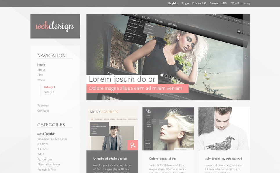Template Photoshop  para Sites de Estúdio de Design №57327 New Screenshots BIG