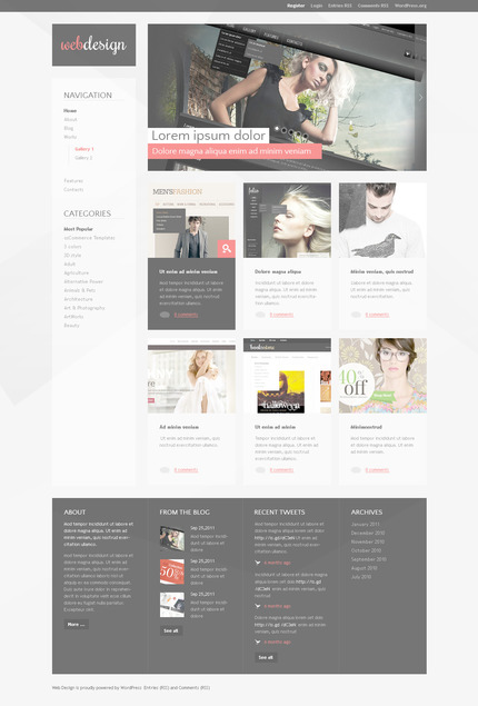 ADOBE Photoshop Template 57327 Home Page Screenshot