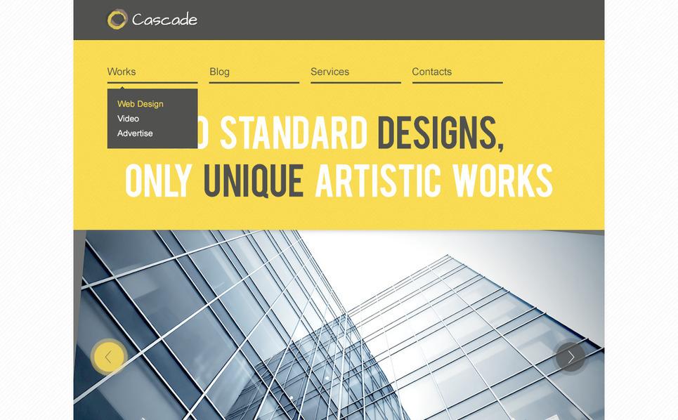 Szablon PSD #57328 na temat: studio projektowe New Screenshots BIG
