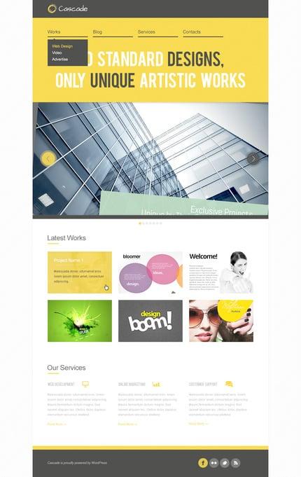 ADOBE Photoshop Template 57328 Home Page Screenshot
