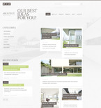 Architecture PSD  Template 57331