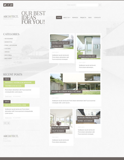 PSD макет сайта №57331