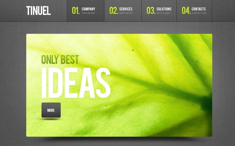 Plantilla PSD #57332 para Sitio de Negocio y Servicios New Screenshots BIG