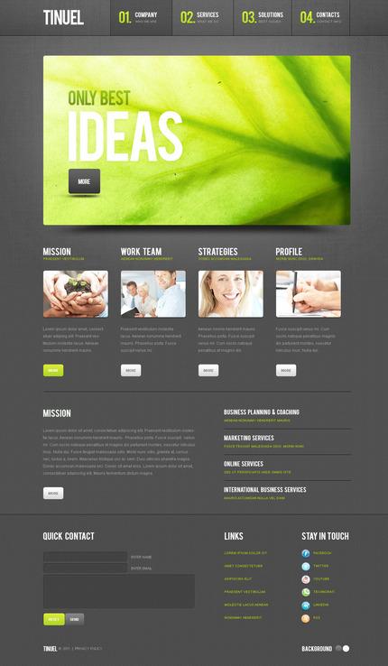 PSD макет сайта №57332