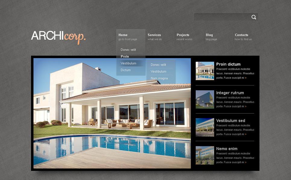 PSD шаблон на тему будівельна компанія New Screenshots BIG