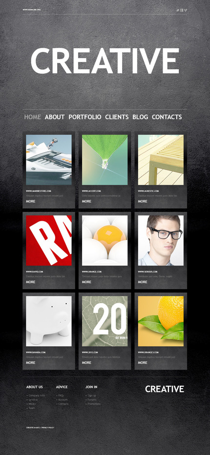 ADOBE Photoshop Template 57334 Home Page Screenshot