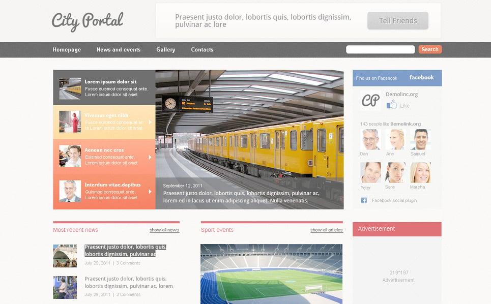 Városi portál PSD sablon New Screenshots BIG