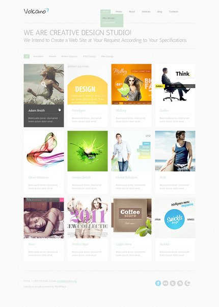 ADOBE Photoshop Template 57338 Home Page Screenshot