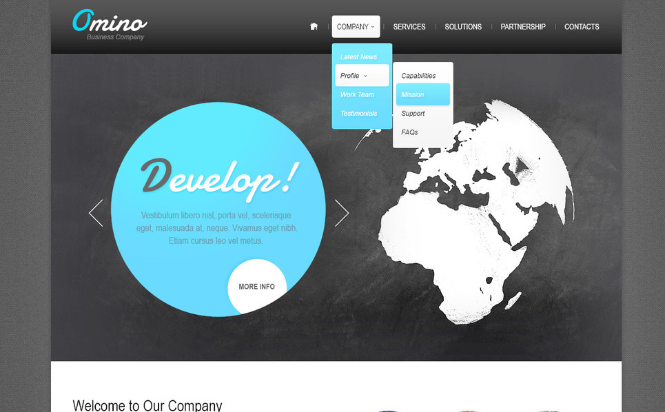 Szablon PSD #57342 na temat: biznes i usługi New Screenshots BIG