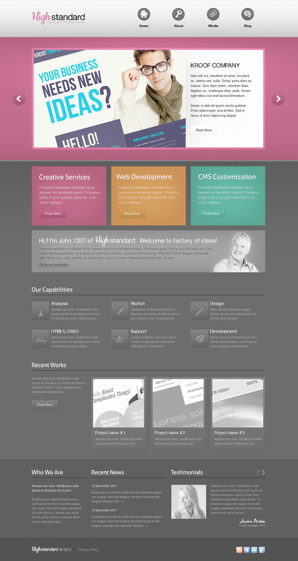 ADOBE Photoshop Template 57346 Home Page Screenshot