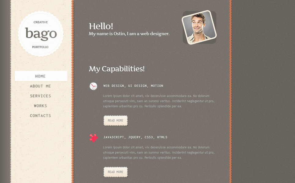 PSD Template over Ontwerper Portfolio  New Screenshots BIG