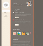 Web design PSD  Template 57348