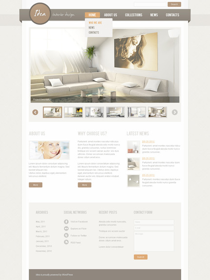 PSD макет сайта №57350