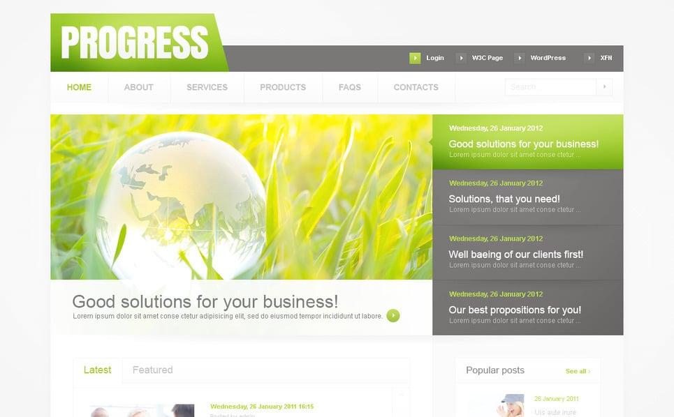 Template PSD  #57352 per Un Sito di Business e Servizi New Screenshots BIG