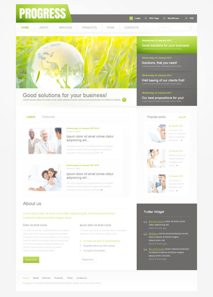 PSD макет сайта №57352