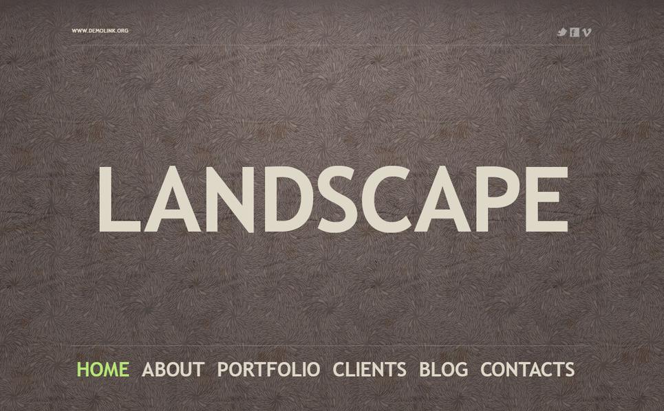 PSD Template over Landschapsontwerp  New Screenshots BIG