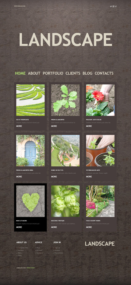 ADOBE Photoshop Template 57354 Home Page Screenshot