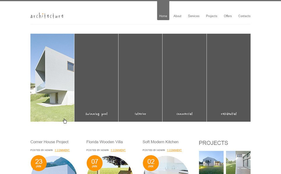 Szablon PSD #57355 na temat: architektura New Screenshots BIG