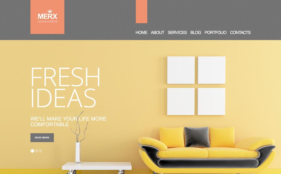 PSD Template over Interieur-design  New Screenshots BIG
