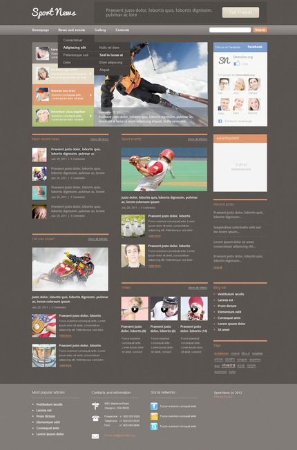 ADOBE Photoshop Template 57358 Home Page Screenshot