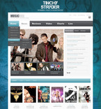 Entertainment PSD  Template 57359