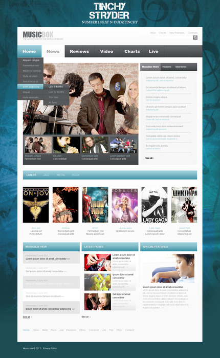 ADOBE Photoshop Template 57359 Home Page Screenshot