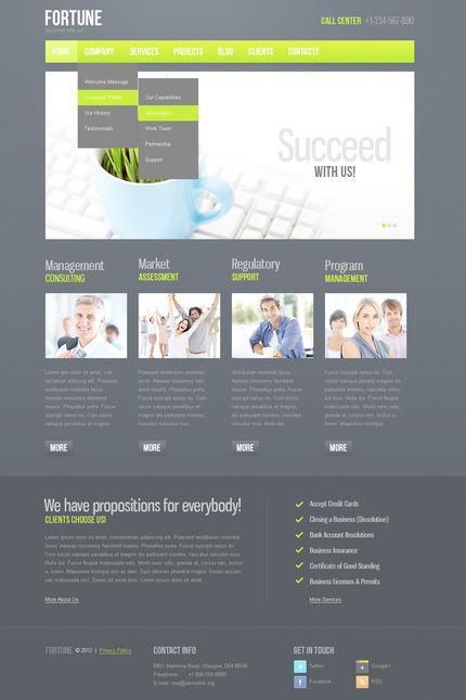 PSD макет сайта №57361
