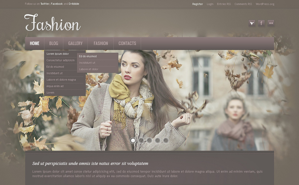 Modello PSD  #57362 per Un Sito di Fashion Blog New Screenshots BIG