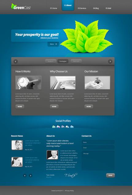 PSD макет сайта №57365