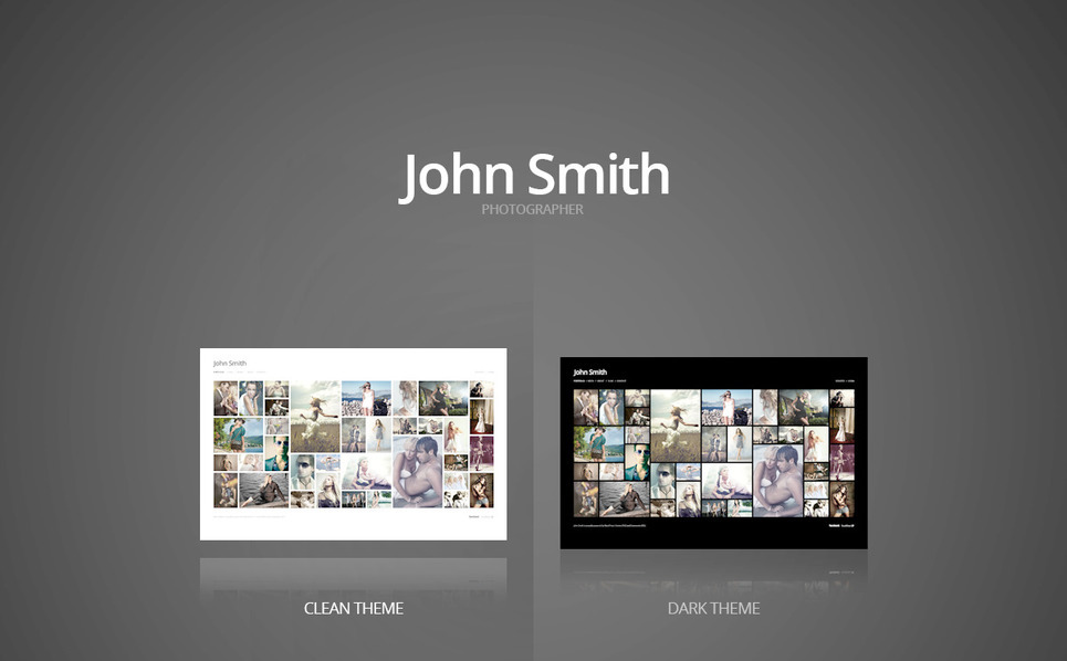 PSD šablona Portfolio fotografa New Screenshots BIG