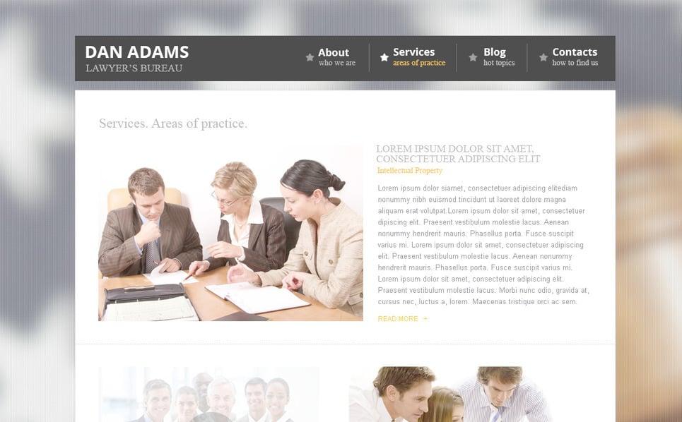 Tema PSD  #57381 per Un Sito di Avvocato New Screenshots BIG