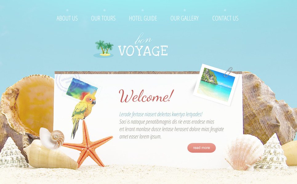 Template Photoshop  para Sites de Agencia de Viagens №57383 New Screenshots BIG