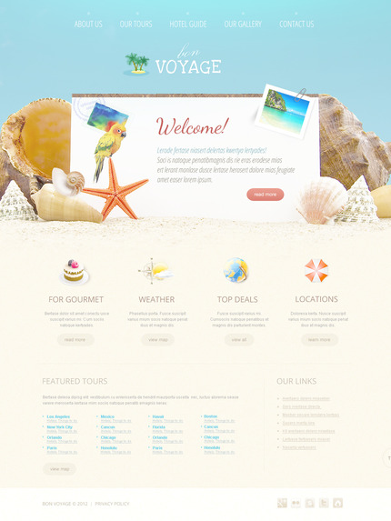 ADOBE Photoshop Template 57383 Home Page Screenshot