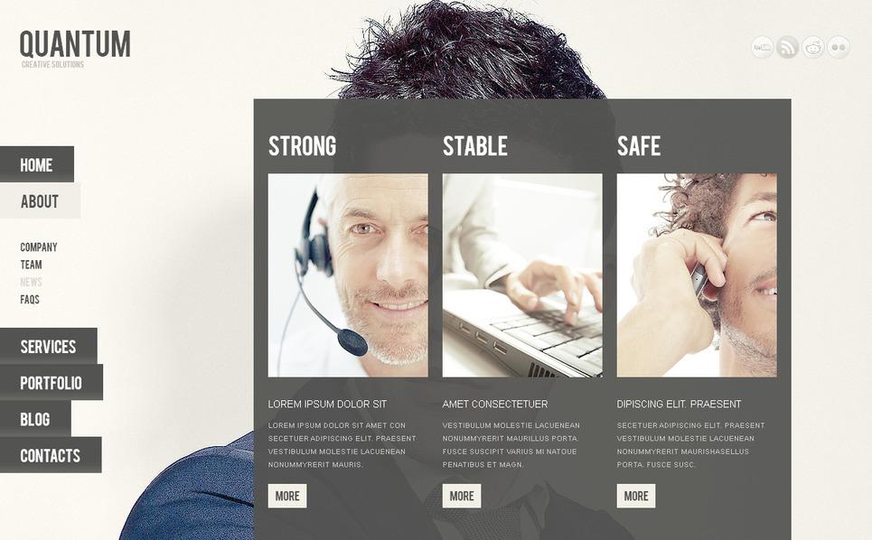 Template PSD  #57385 per Un Sito di Business e Servizi New Screenshots BIG