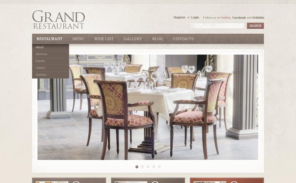 Szablon PSD #57386 na temat: kawiarnia i restauracja New Screenshots BIG
