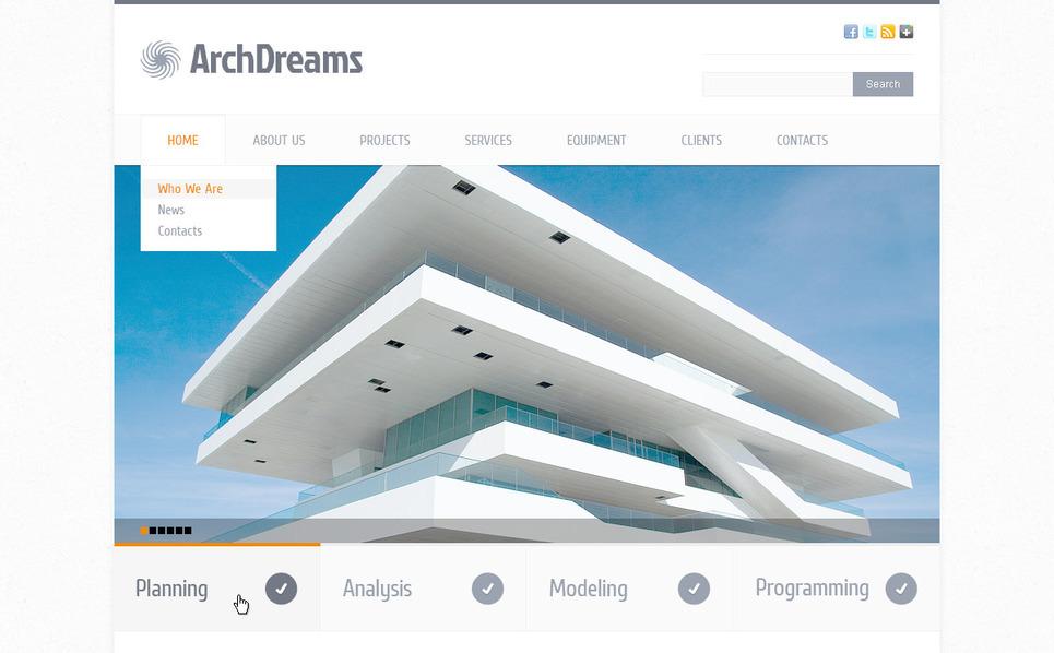 PSD Template over Bouwbedrijf New Screenshots BIG