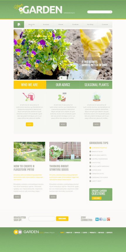 ADOBE Photoshop Template 57390 Home Page Screenshot