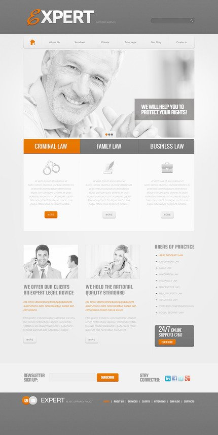 ADOBE Photoshop Template 57391 Home Page Screenshot