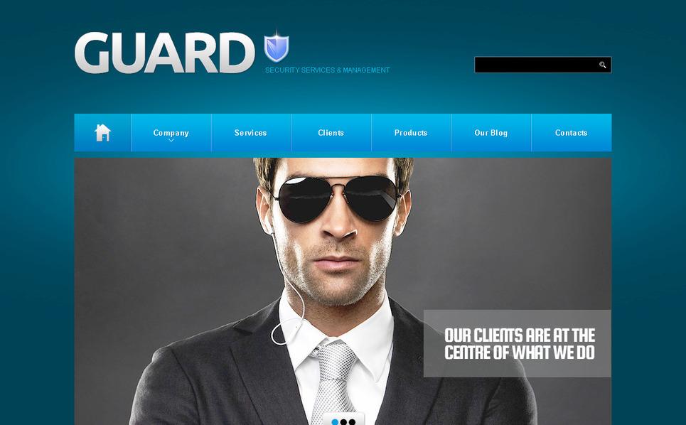 Szablon PSD #57392 na temat: bezpieczeństwo New Screenshots BIG