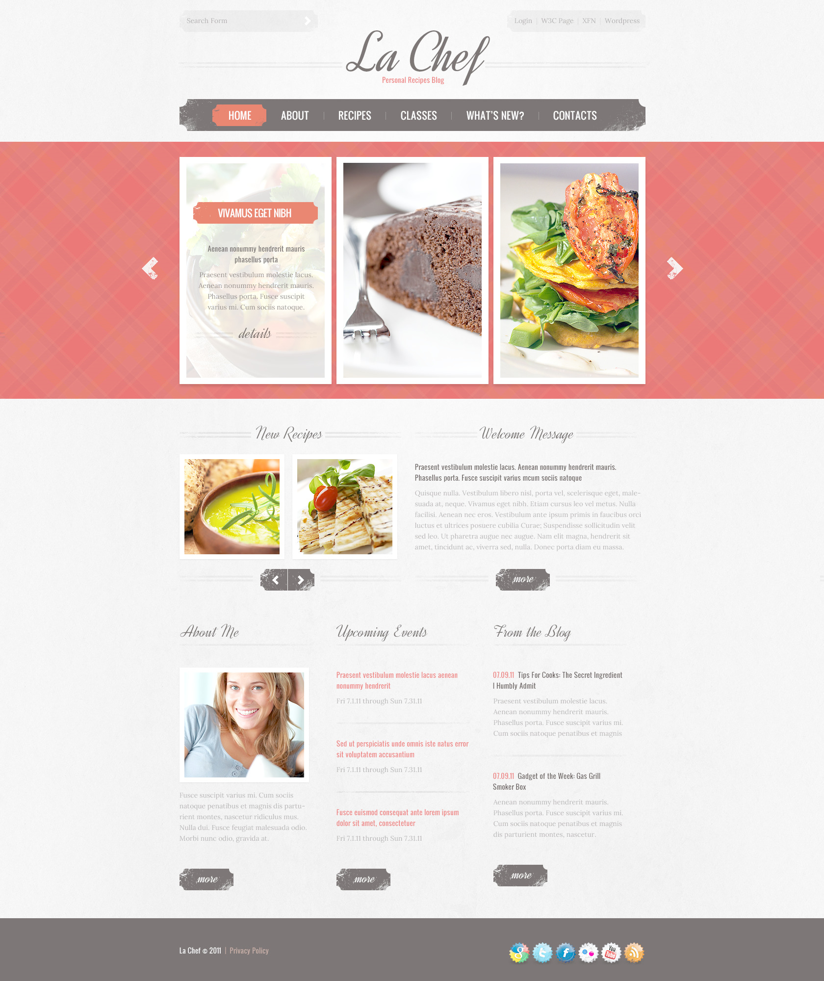 Cooking PSD Template