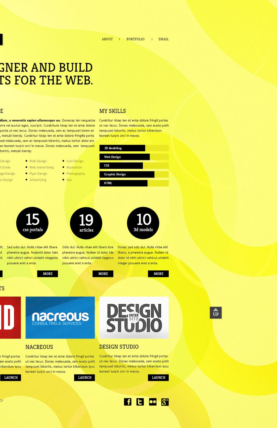 Designer Portfolio PSD Template New Screenshots BIG