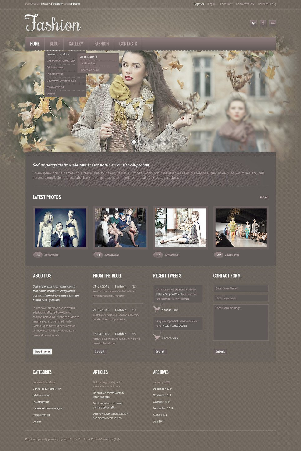 Fashion Blog PSD Template New Screenshots BIG