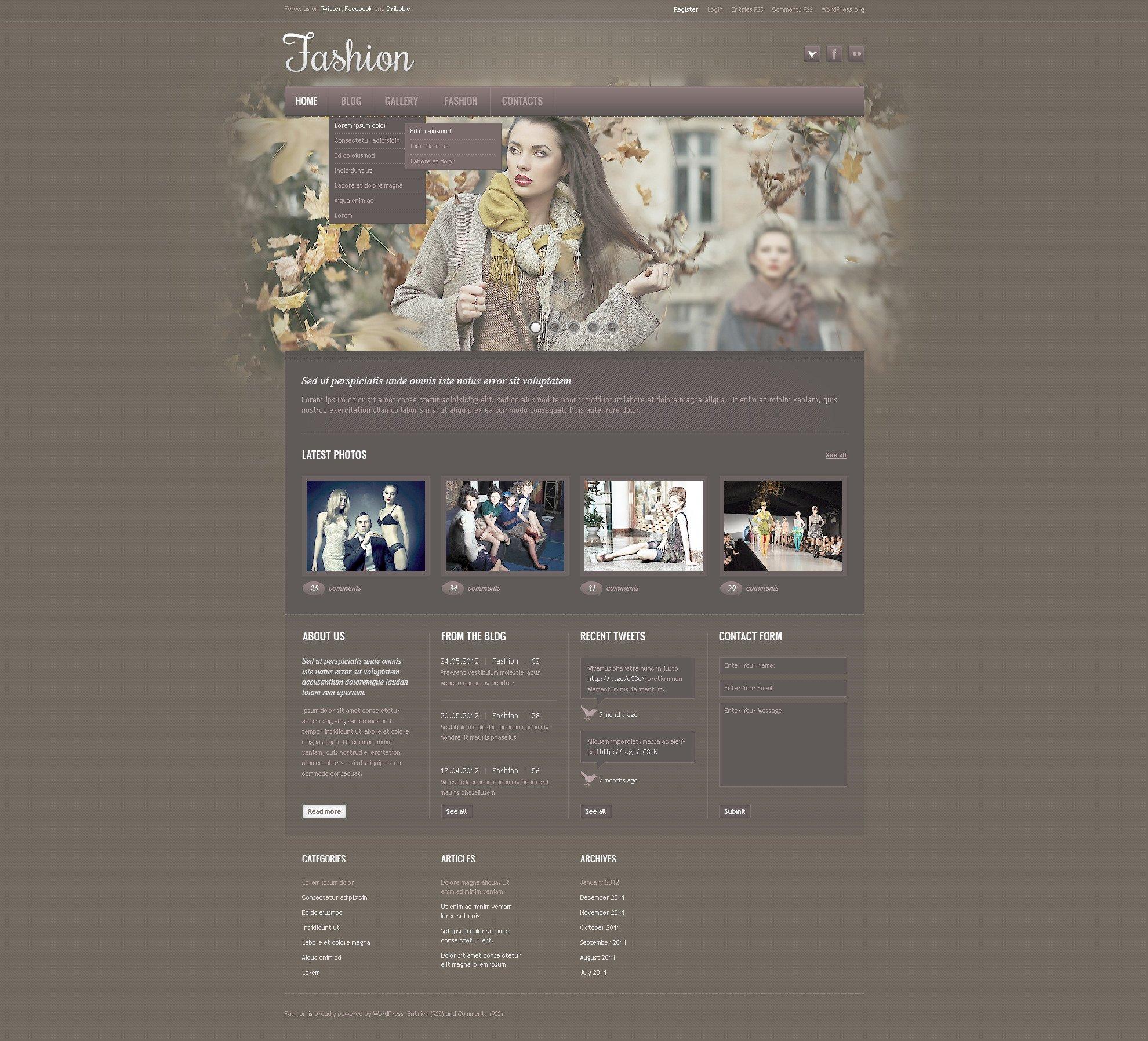 Fashion Blog PSD Template