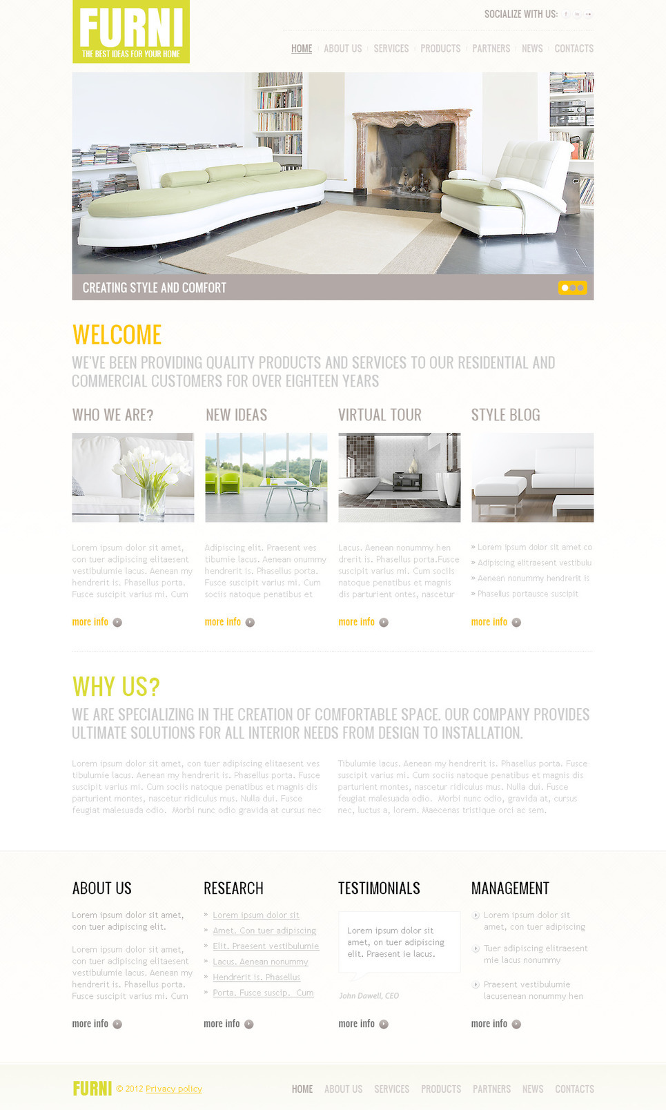 Furniture PSD Template New Screenshots BIG