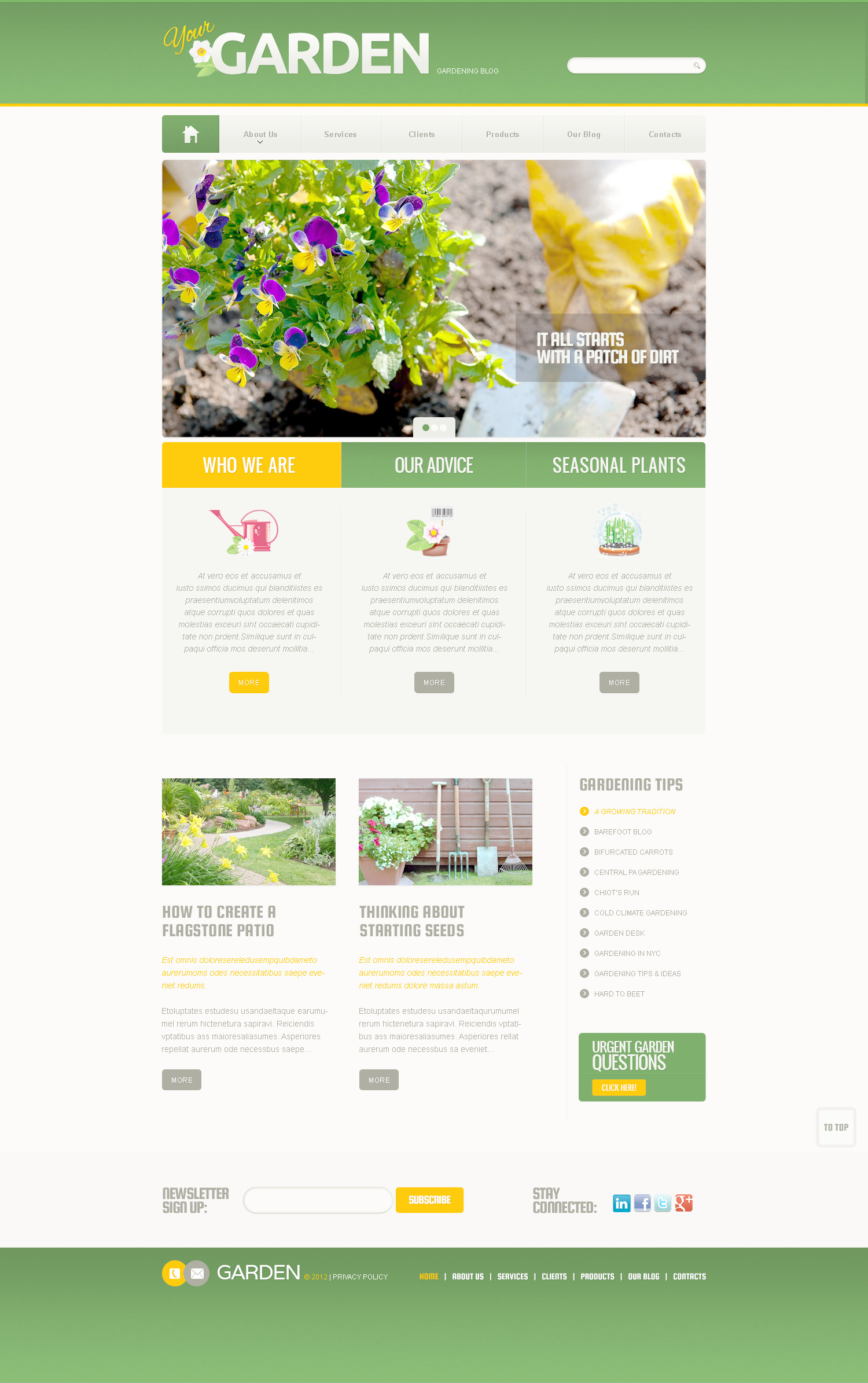 Garden Design PSD Template #57390
