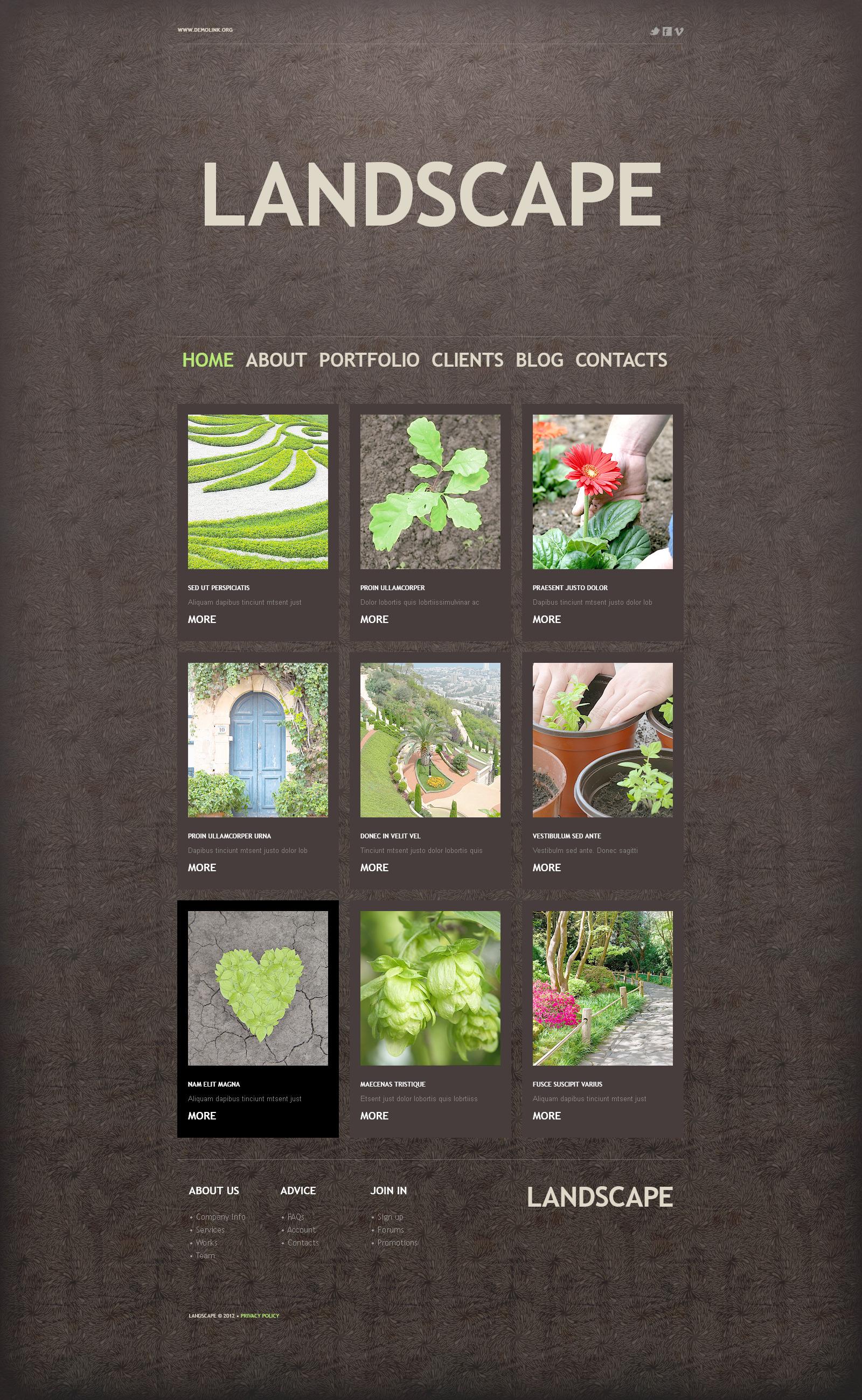 Landscape Design PSD Template